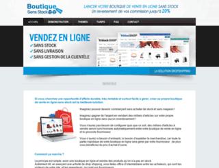 boutiquesansstock.com screenshot