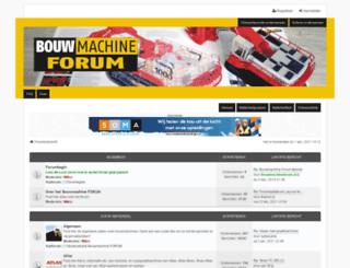 bouwmachineforum.nl screenshot
