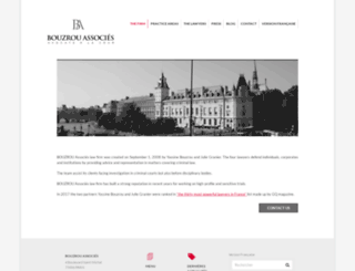 bouzrou-associes.com screenshot