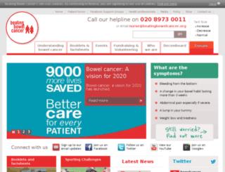 bowelcancer.org screenshot