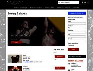 boweryballroom.com screenshot