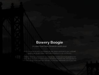 boweryboogie.com screenshot
