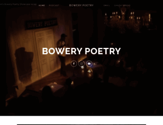 bowerypoetry.com screenshot