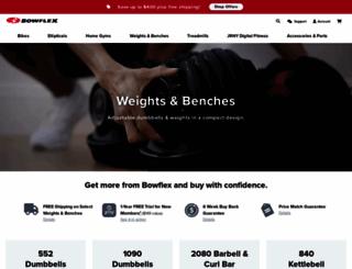 bowflexselecttech.com screenshot