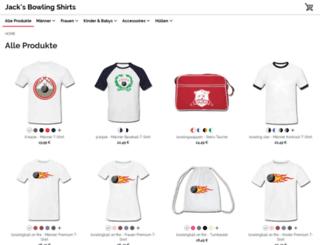 bowlingshirts.spreadshirt.net screenshot