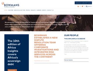 bowman.co.za screenshot