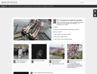 box-of-style.blogspot.com screenshot