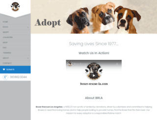 boxer-rescue-la.com screenshot