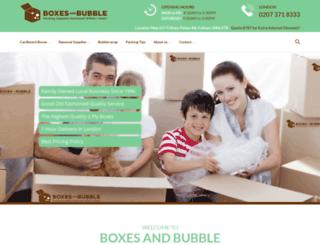 boxesandbubble.co.uk screenshot
