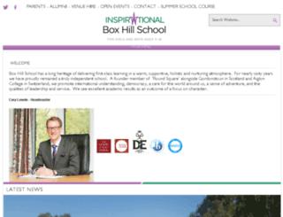 boxhillschool.com screenshot