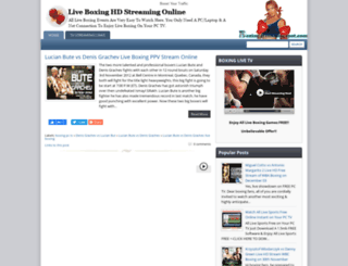 boxing4fans.blogspot.com screenshot
