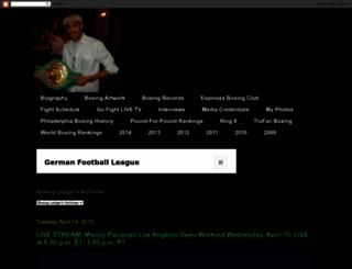 boxingledger.com screenshot