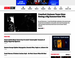 boxingscene.com screenshot