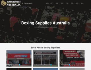 boxingsupplies.com.au screenshot