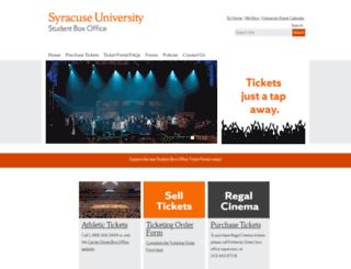 boxoffice.syr.edu screenshot