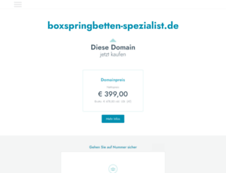 boxspringbetten-spezialist.de screenshot