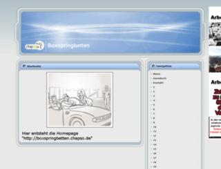 boxspringbetten.chapso.de screenshot