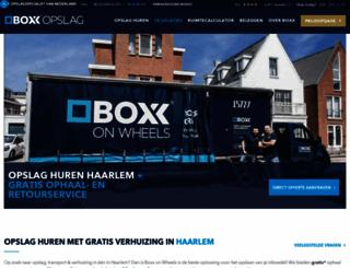 boxx-opslagverhuur.nl screenshot
