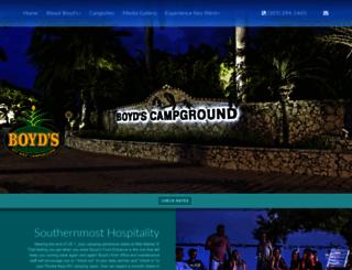boydscampground.com screenshot