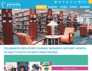 boyntonlibrary.org screenshot