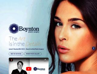 boyntonplasticsurgery.com screenshot