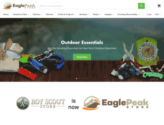 boyscoutstore.com screenshot
