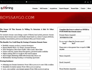 boyssaygo.com screenshot