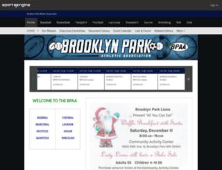 bpaasports.org screenshot