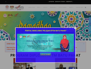 bpahat.kptm.edu.my screenshot