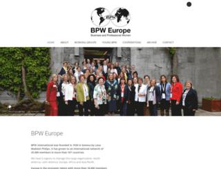 bpw-europe.org screenshot