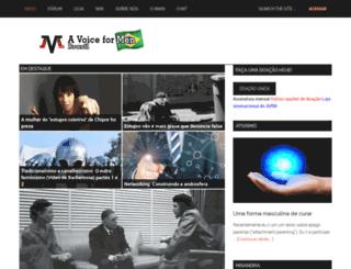 br.avoiceformen.com screenshot