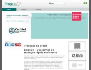 br.lingo24.com screenshot