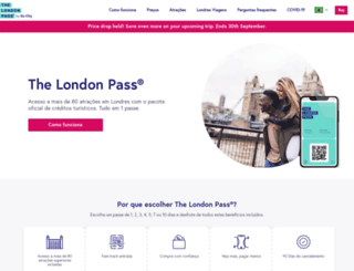 br.londonpass.com screenshot