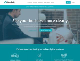 br.newrelic.com screenshot