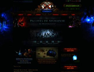 br.pathofexile.com screenshot