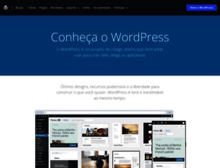 br.wordpress.org screenshot