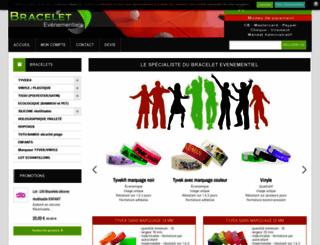 bracelets-evenementiels.com screenshot