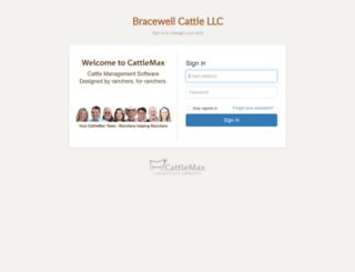 bracewellcattlellc.cattlemax.com screenshot