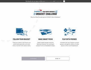 bracketchallenge.ncaa.com screenshot