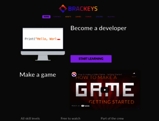 brackeys.com screenshot