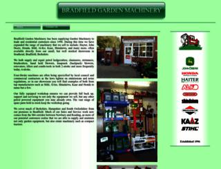 bradfieldgardenmachinery.co.uk screenshot