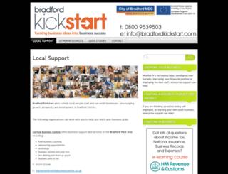 bradfordkickstart.com screenshot