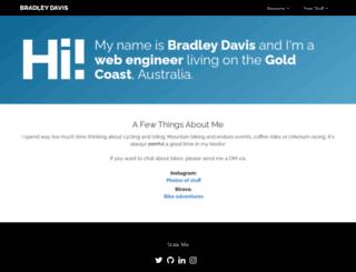 bradley-davis.com screenshot
