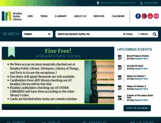 bradleylibrary.org screenshot