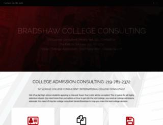 bradshawcollegeconsulting.com screenshot