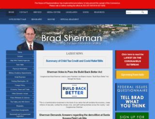 bradsherman.house.gov screenshot