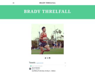 bradythrelfall.com screenshot