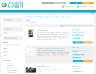 bragacidade.anunciosgratis.pt screenshot
