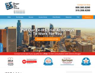 bragertaxlaw.com screenshot