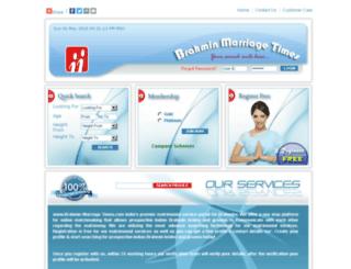 brahminmarriagetimes.com screenshot